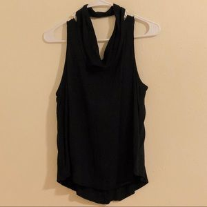 Kendall & Kylie Black open-back top